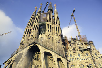 Sagrada Familia, Passion facade. Barcelona, Spain