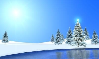 Winterlandschft am See
