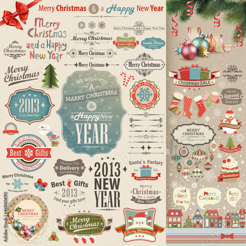 Christmas vintage Scrapbook set - 46860690
