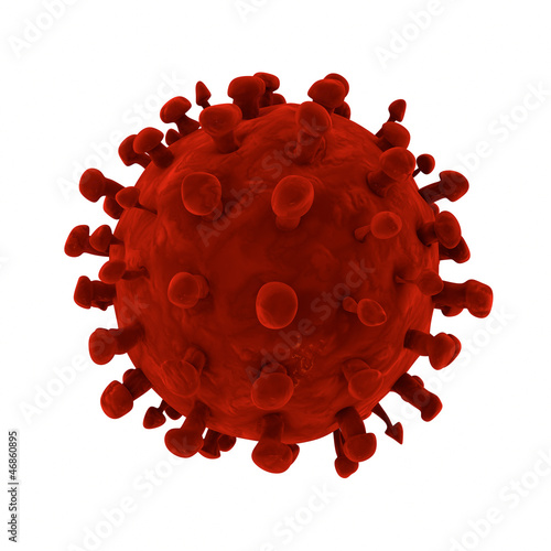 HIV Virus 3D rendering