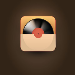User interface music player icon