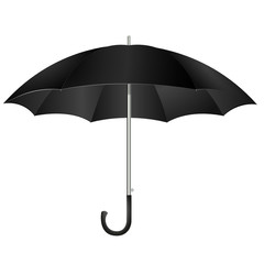 black umbrella vector illustration