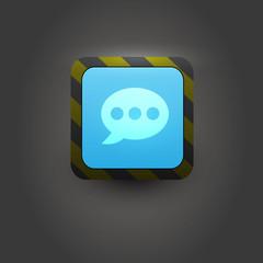 Bubble talk user interface icon
