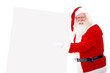 Happy Santa with a banner