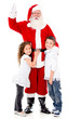 Happy Santa Claus with kids