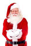 Santa Claus holding something