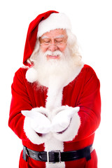 Santa Claus holding something