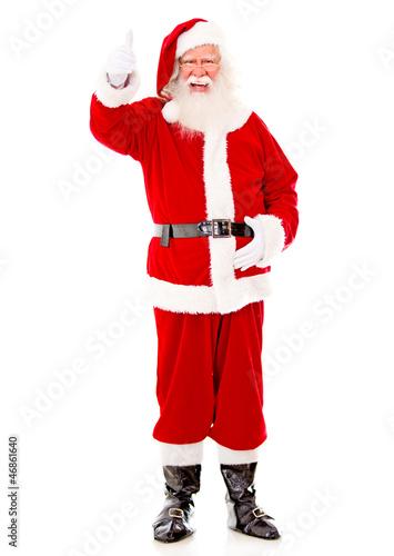 Happy Santa with thumbs up
