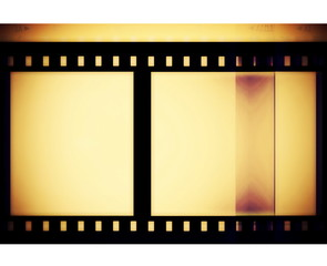 Old film roll isolated on white background