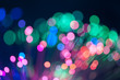 Festive lights and circles. Christmas background