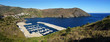 Panoramic view of Portbou bay in the Costa Brava