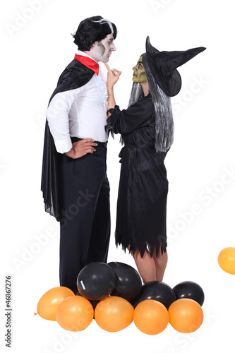 Couple at a Halloween party