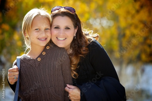 Fall Colors with Mom and Daughter