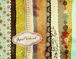 Gypsy Background with patterned scraps
