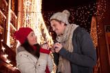 Fototapety auf dem weihnachtsmarkt