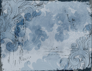 Vintage Swirly Collage - multilayer collage background