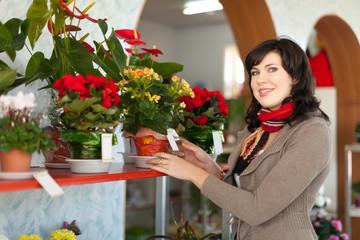 woman in  flower shop