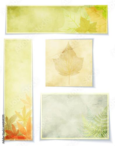 Vintage Botanical Banners - Autumn