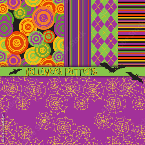 5 Seamless Halloween Patterns