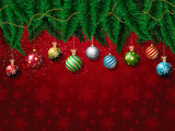Fototapety Christmas baubles background