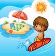 a surfing boy