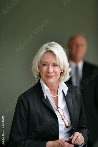 Portrait of an elegant senior woman