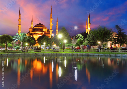 Blue mosque in Istanbul - Turkey