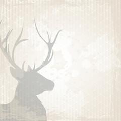 Hirsch auf Grunge Hintergrund