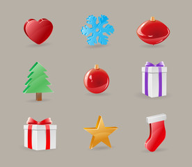 Christmas Icon Objects