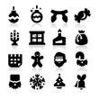 Christmas icons Three