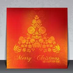 Ethnic decorative Christmas card