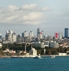 Istanbul financial center view
