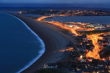 Chesil beach at night