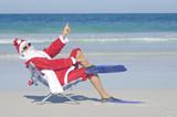 Santa Claus Christmas at Beach - Fine Art prints