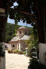 View to Evangelistria Monastery