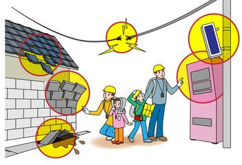 家族で避難訓練