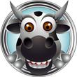 cute cow head cartoon