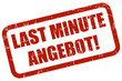 Grunge Stempel rot LAST MINUTE ANGEBOT!