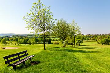 golf park in spring