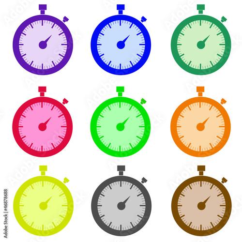 Chronomètres couleur