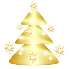 Golden fir tree