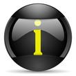 information round black web icon on white background