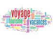"""Nuage de Tags """"VOYAGE"""" (vacances découverte tourisme tour monde)"""