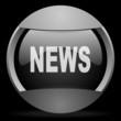 news round gray web icon on black background