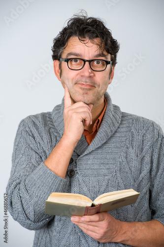 man is reading
