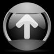 arrow up round gray web icon on black background