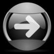 arrow right round gray web icon on black background