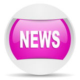 news round violet web icon on white background