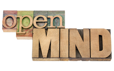 open mind in wood type