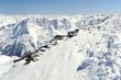 Austrian Alps winter landscape